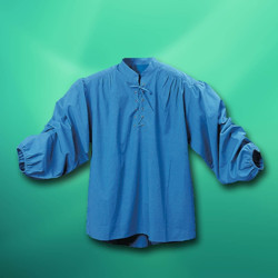 Privateer Renaissance Mens Shirt in Blue