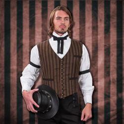 Mens Westend Waistcoat Pinstripe Vest