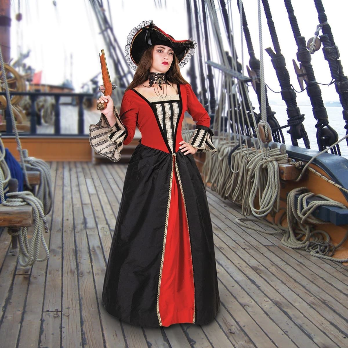 Anne Bonny Ladies Renaissance Pirate Gown