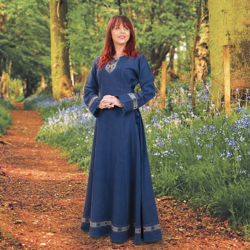 Norse Medieval Viking Dress in Blue