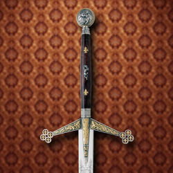 Hilt of Silver and Gold Claymore by Marto
