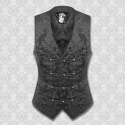 Dorian Black on Black Brocade Vest