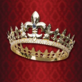 Black Prince Crown with Sparkling Rhinestones