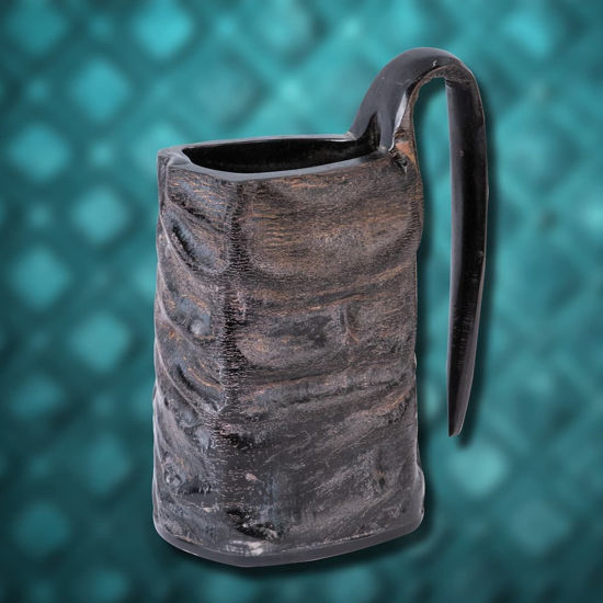 Natural Horn Viking Style Triangular Mug
