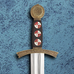 Wood Grip with Cloisonne on Windlass Sword of King Sancho IV