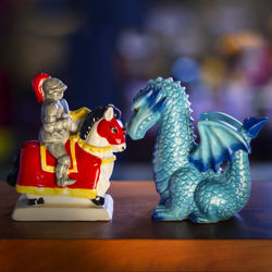Knight and Dragon Salt and Pepper Shakers