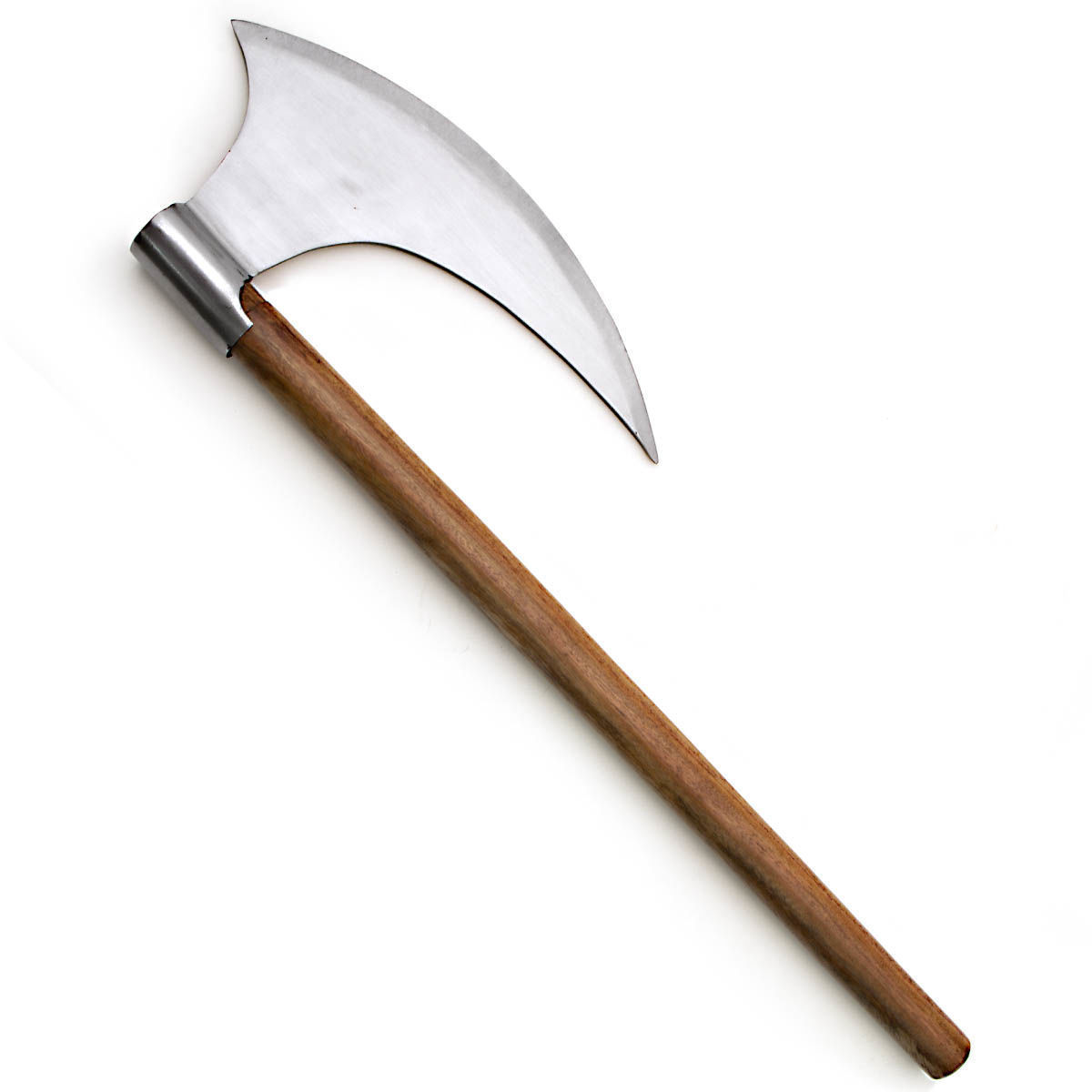 Display Viking War Axe with hand forged blade and hardwood handle