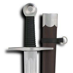 Practical Marshall Single Hand Practice Sword Includes Glass Filled Resin Scabbard