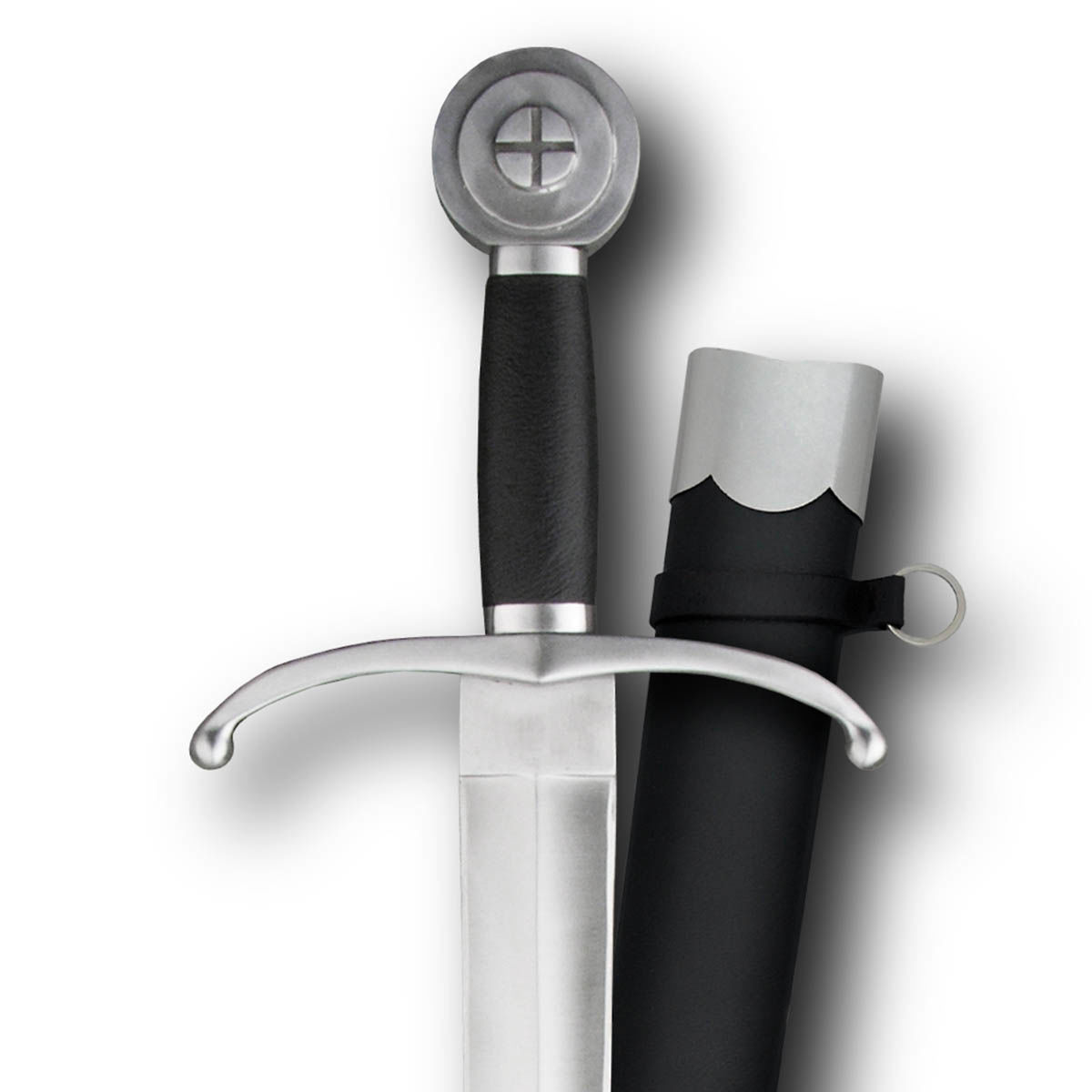 Henry V Sword by Paul Chen / Hanwei is a cut-and-thrust sword with down-swept quillons, wheel pommel and includes scabbard