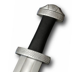Hanwei / Tinker Sharp 9th Century Viking Sword with circular indentation hilt decoration and carbon steel blade