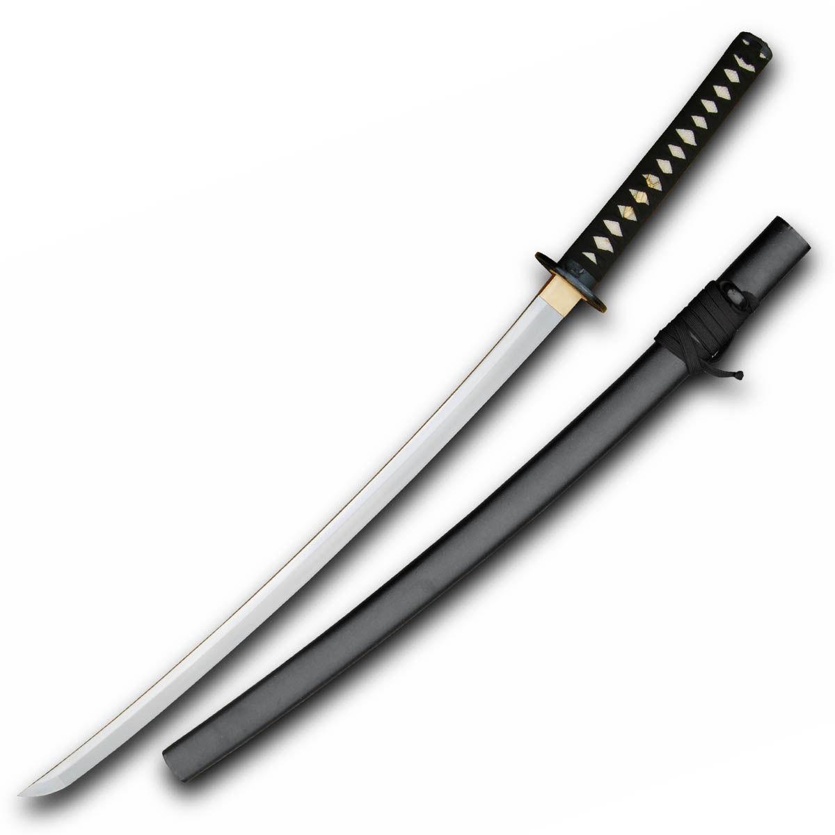 Hanwei Raptor Katana Shinogi Zukuri with forged 5160 high-carbon steel blade and wood saya with textured lacquer finish