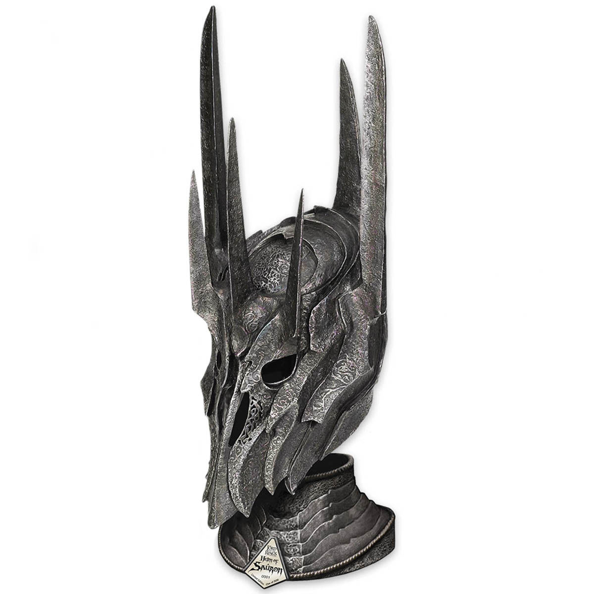Licensed Lord of the Rings Helm of Sauron with Stand from United Cutlery