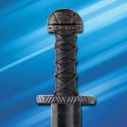 Sword has snub hilt and lobed-pommel for a snug grip and quick center-of-rotation for versatile action