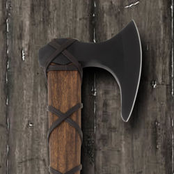 Ragnar's Axe with stained ash handle and 2Cr13 stainless steel head