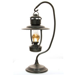 Lighted Period Oil Lamp with stand