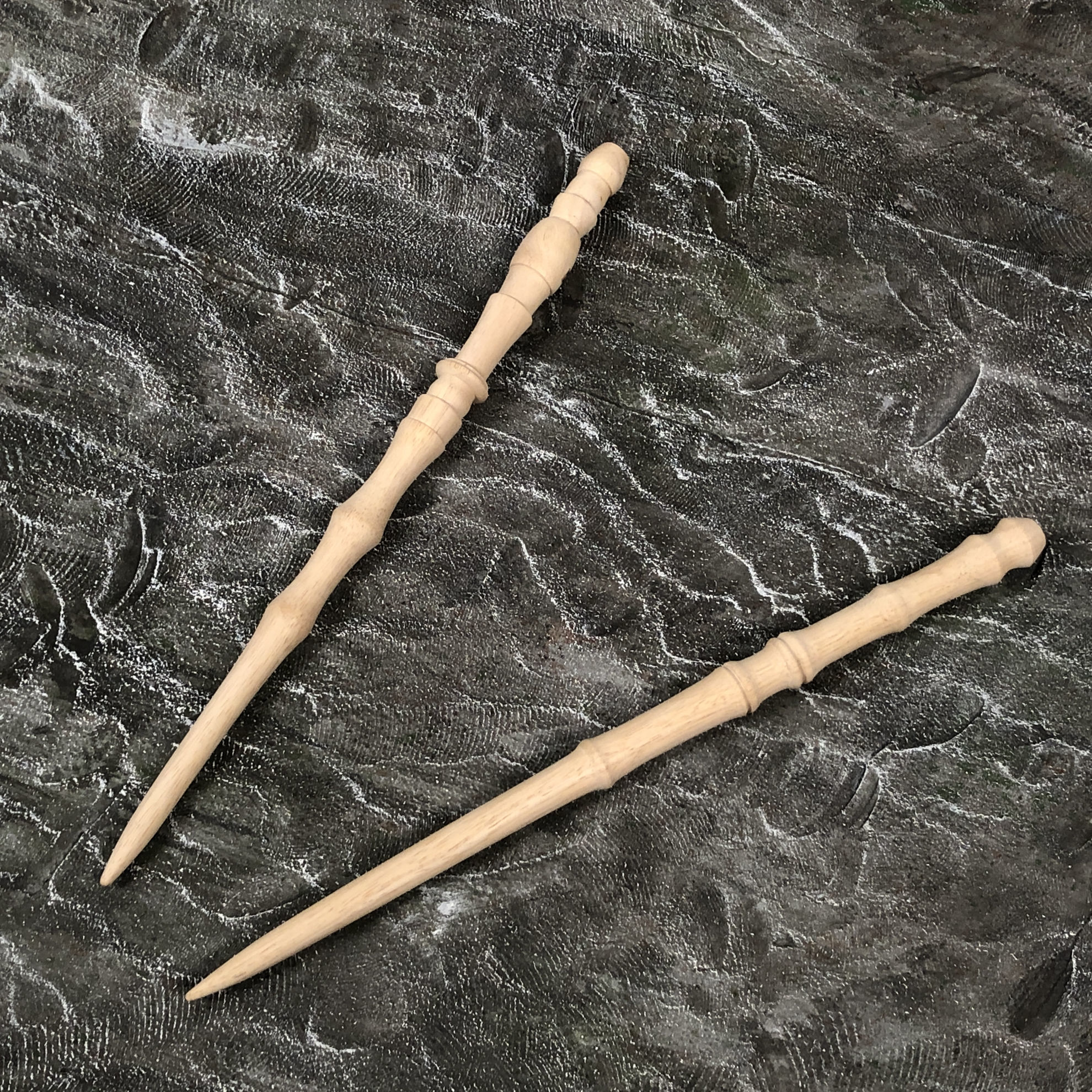 Set of 2 Natural Wood Unstained Wizards Magic Wands