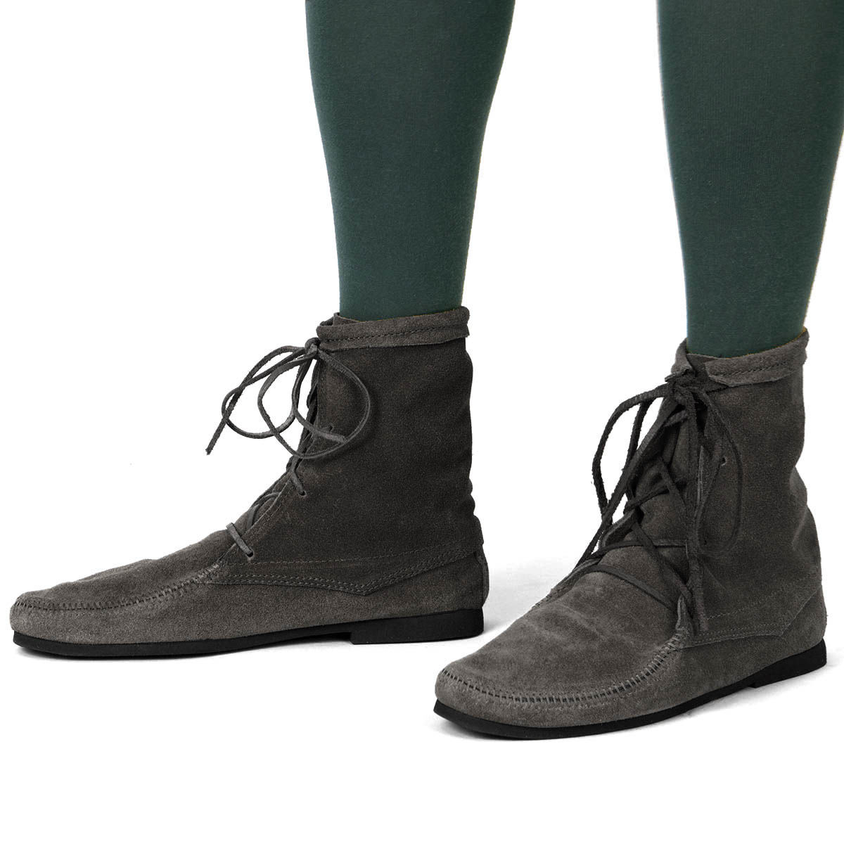 """Black suede boots with 1/8"""" thick cushioned insole and comfortable rubber sole so you can wear them all day long"""