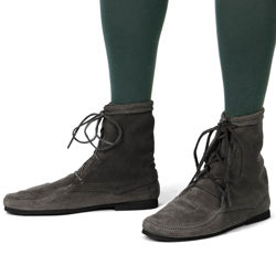 "Black suede boots with 1/8"" thick cushioned insole and comfortable rubber sole so you can wear them all day long"