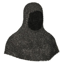 Riveted Aluminum Battle Worn Mail Armor Coif