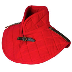 Thickly padded Red Arming Collar provides protection for your shoulders, and aids in comfort when worn under armor