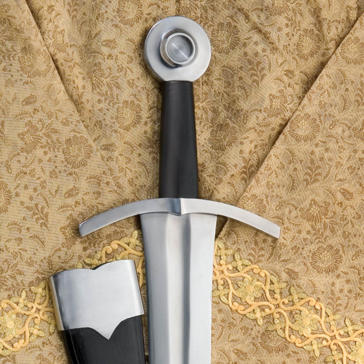 Oakeshott Type XIV Arming Sword by Windlass with wheel pommel and high carbon steel blade