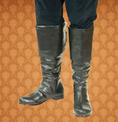 soft artificial leather boots with fold-over top flap, laces in back, and hidden zipper